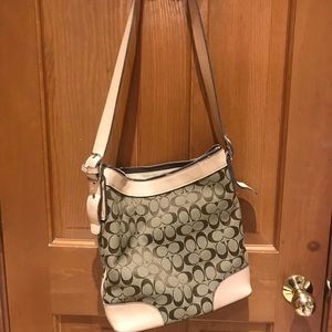 Faux Coach bag that has been lovingly used